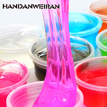 HANDANWEIRAN 1piece / lots 12 colors can be non-toxic blowing bubbles crystal mud clay can draw slime Funny Toys fun toys