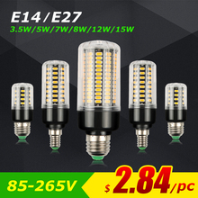 Led Lamp E27 Led Bulb E14 Led Corn Light 220v 110v SMD 5736 Ampoule e 27 lampada Real watts NO Flicker for Home ampoules Lights