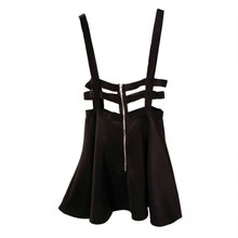 Women Girl Playsuit Skater Suspender Skirts Bandage Short Mini Strap Empire Skirts