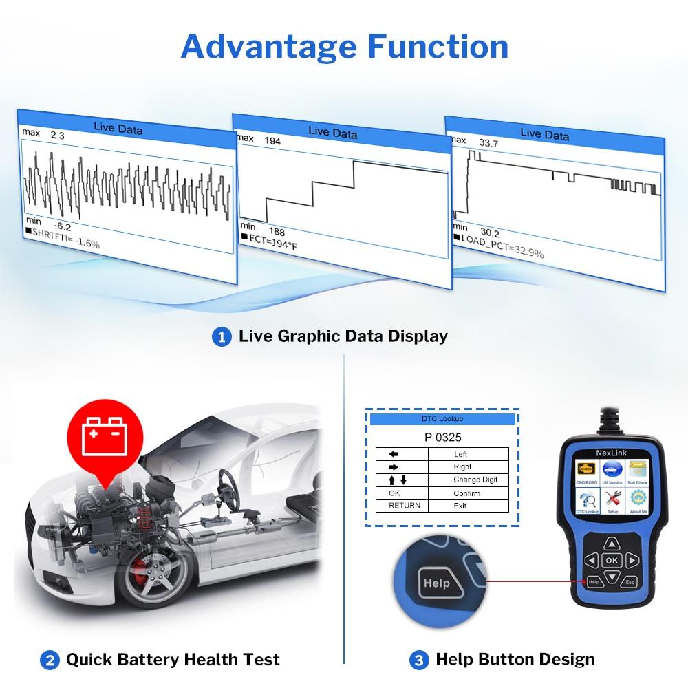 Deelife Professional OBD2 Automotive Scanner for Car Diagnostic Tool OBD II  Auto Self Diagnosis OBD 2 ODB2 scaner Code Reader