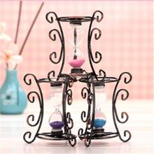 Bronze Small Iron Hourglass Gift Desktop Decoration Shooting props Garden Ornaments Sandglass furnishings Decoration L35