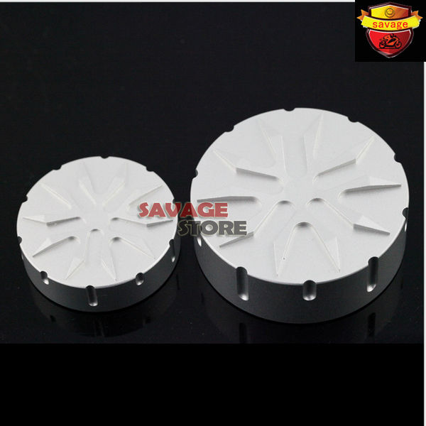 For BMW R1200GS R1200R R1200S R1200ST Motorcycle CNC Aluminum Brake Clutch Cylinder Reservoir Cover Cap Silver<br><br>Aliexpress