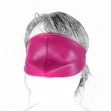 Buy Sex Blindfold Mask S&M PU Leather Bondage Restraints Erotic Toys Cosplay Eye Mask Woman Men Fetish Slave Adult Game Product
