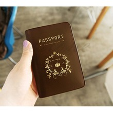 2 Colors New Fashion Small Travel Utility Simple Passport ID Card Cover Holder Case Protector Skin PVC Leather Trunk Zipper