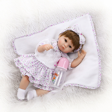"soft touch real looking best children gift bebe  18"" 40cm reborn premie dolll fake baby girl silicone dolls reborn"