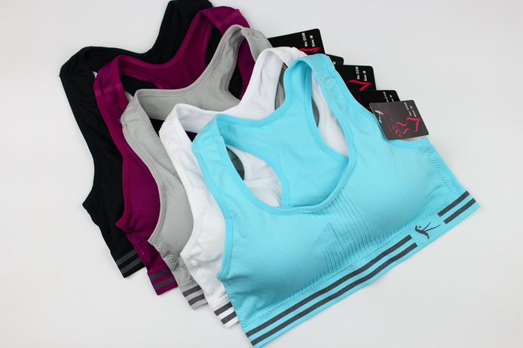 Women Yoga Fitness Sports Bra For Female Running Gym Tank Top Breathable Sport Brassiere Push Up Padded Quick Dry Vest Plus Size_1666