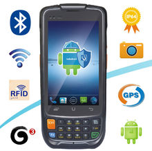 1d Laser Handheld Android Smartphone Barcode Reader With Quad core 3G GPRS WIFI WCDMA EVDO PSAM GPS Bluetooth