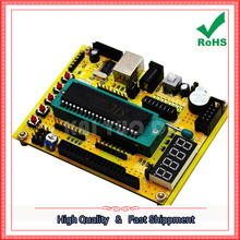Free Shipping 2pcs (ZK-1) 51 / AVR Microcontroller System Board / USB Download Program / Development Board / Tutorial (C7A3)(China)