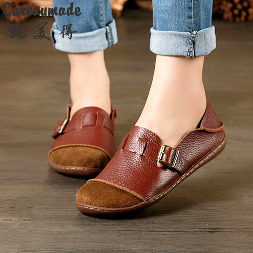 Careaymade-Hot Sale spring comfortable casual Top layer Genuine leather pure handmade shoes,the art mori girl shoes,size 35-42<br>