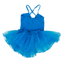 MAKE Hot Ballet Tutu Fairy Dress Dancer Tights for Girls 4-5T Blue(China)