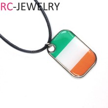 2018 Russia football World Cup Ireland football team Alloy Flag pendant Necklace soccer Fans Souvenir Gifts(China)