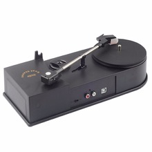 2017 New USB Portable Mini Vinyl Turntable Audio Player Vinyl Turntable to MP3/WAV/CD Converter without PC 33RPM EC008B(China)