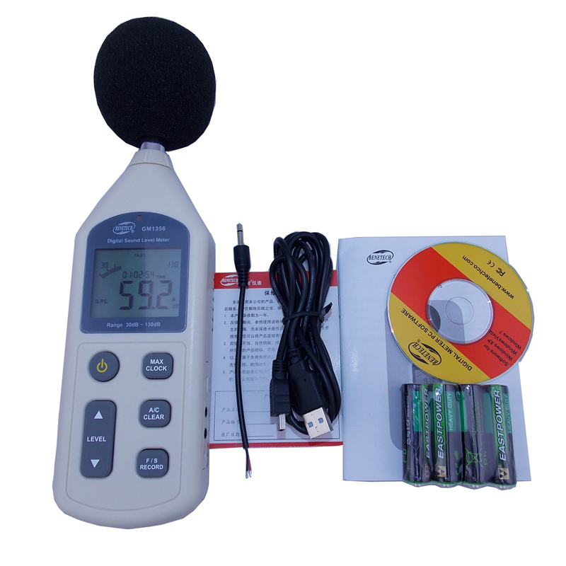 GM1356 Sound Level Meter with USB Digital Noise Tester LCD Screen Audio Vioce Describe Meter Decibel Monitor Pressure Tester<br>