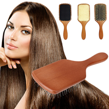 1PC Portable Wooden Large Paddle Hair Brush Health Care Scale Head Massage Comb head Accessories For professional Salon/Home