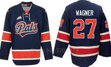 Regina Pats #27 Austin Wagner Hockey Jersey Embroidery Stitched Customize any number and name Jerseys(China)