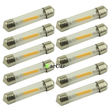 Cheap Price 10x 41mm LED Festoon Reading Lights 12V Auto Car 50LM COB Dome Lamp LED Door Bulb White/Warm White