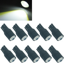 CQD-Light 10PCS T10 Super Bright 3W T10 W5W White High Power LED Car Light Side Wedge Lamp 194 927 Parking