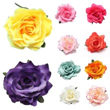 LNRRABC 2016 Fashion New Women Girls Rose Flower Beach Brooch Hair Pins Clips Slides Grip Wedding Bridal Hair Accessory