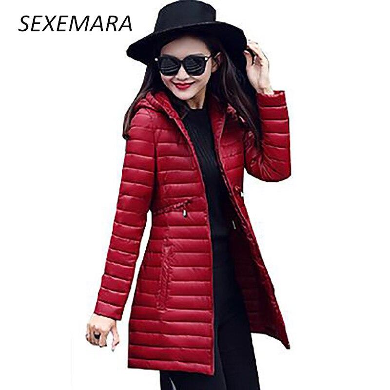 2017 new solid color ladies warm winter jacket ladies jacket long sleeves cotton wool ultra-light cotton shirt long coat LU036Îäåæäà è àêñåññóàðû<br><br>