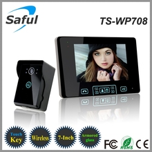 "7"" TFT Wireless Video Door Phone Intercom System 2.4GHz Digital with 1 Monitor Doorbell Camera Doorbell Free Shipping"