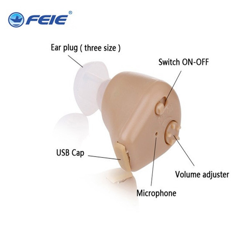 Appareil Auditif Invisible ITE Aide Auditive Rechargeable Therapy Aid S-216 Medical Headphones Free Shipping<br>