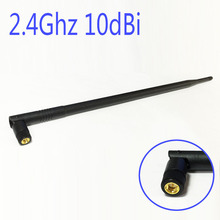WIFI Antenna 2.4 GHz 10dBi SMA Male Wireless WLAN Black Floding Omni Router Card Antenna 39.5CM Length
