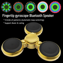 Bluetooth Mic Call Music Speaker Fidget Hand Spinner LED Light Autism ADHD Relax Anti Stress Toy Fingertip gyroscope Speakers O2