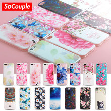 SoCouple Fruits Flower Cactus 3D Relief Silicone Case For iphone 7 7plus for iphone 8 5s 5 SE 6 6s 6/8 plus X TPU Phone Case