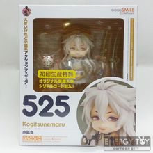 "High quality Play game cool #525 Touken Ranbu Online ver. Kogitsunemaru 4""/10cm model Toy PVC Action Figure collection doll Gift"