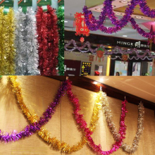 2 M Christmas Rribbon Wool Tops garland Christmas Tree Decoration Ribbon Encryptionxmas metallic purple silver gold tinsel