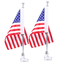 1Pair Chrome Motorcycle Rear Side Mount Luggage Rack Vertical Flag Pole American For Harley Touring Road King Glide&FLHT Motos(China)