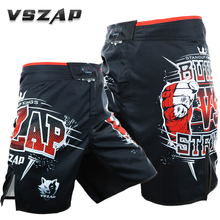 Vszap MMA Training Short Man's Thai Boxing Shorts Muay Thai Boxeo Shorts Mma Fight Trunks Sports Trunks sport shorts(China)