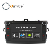 Ownice C500 Android 6.0 Octa 8 Core 2G RAM car dvd player for Toyota corolla 2007 - 2011 in dash 2 din gps navi 4G LTE Network
