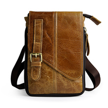 Vintage Genuine Natural Leather Casual Multi-funciton Bag Men's Mini Shoulder Bag Messenger Bag Waist Belt Pack