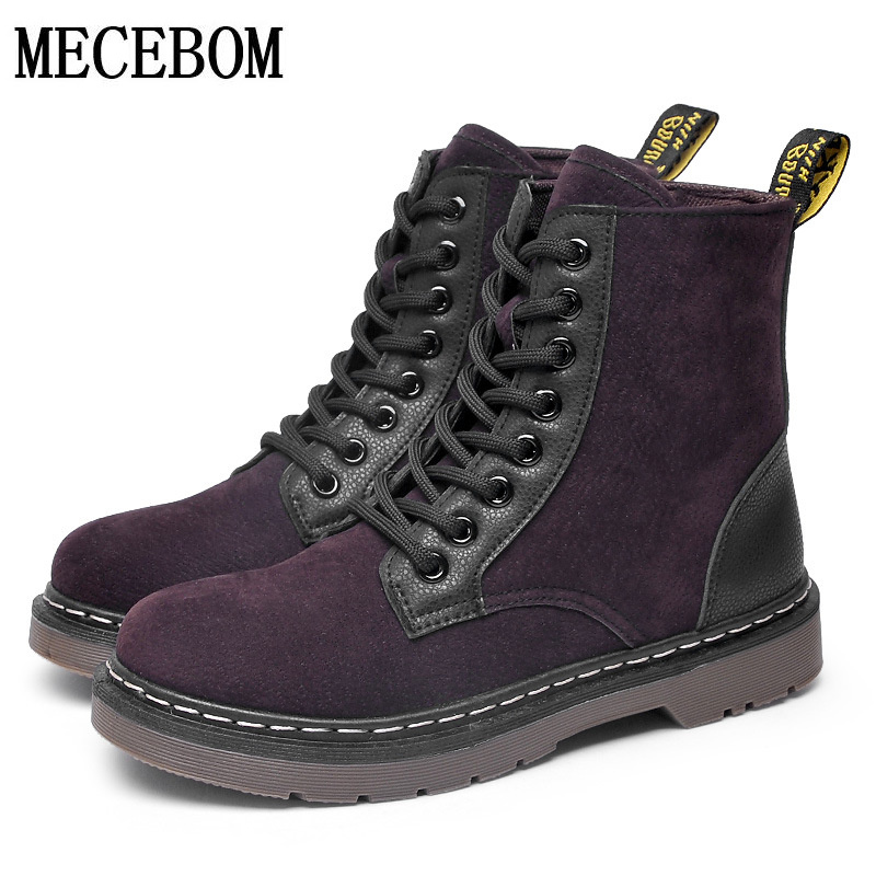 New fashion spring flock round toe boots women winter snow ankle boots martins Lace up Platform Shoes zapato size 35-40 8897W<br><br>Aliexpress