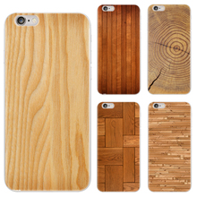Newest Wood Grain Design For iPhone 5 5s SE 6 6s 6 Plus 6s Plus 7 7 Plus Painted TPU Soft Phone Case Silicone Skin Back Cover