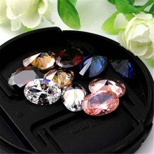 10x14mm Oval Shaped Natural Zircon Stone 5colors DIY Jewelry Making Findings Accessoreis
