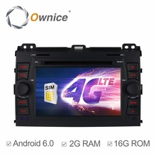 4G Internet Quad Core 2GB RAM Android 6.0 Car DVD for Toyota Prado Land Cruiser 120 2002 2003 2004 2005 2006 2007 2008 2009(China)