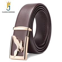 Buy FAJARINA Unique Design Male Fly Eagle Pattern Slide Buckle Men's Cowhide Genuine Brand Leather Belts Men LUFJ695 for $24.96 in AliExpress store