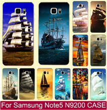 Best Selling Smooth Sailing Ship Pirate Ship PC Plastic Cases Capa Sleeve For Samsung Note5 Note 5 Mobile Phone Case Cover Shell(China)
