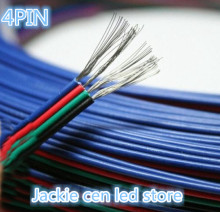 50m/lot electric wire cable wire,22AWG 4P,tinned copper pvc Insulated nylon plastic extension cords for rgb led strip(China)