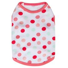 New Popular Fashion Full Kam Polka Dot Cotton Jersey Vest Pet Clothing Roupa Para Cachorro Dog Clothes Clothing for Dogs(China)