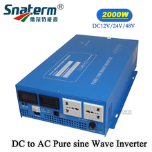 LCD Display 2000W Full Power 4000W Peak Power Supply Off Grid DC12/24/48V TO AC Converter Solar Inverter Pure Sine Wave Inverter