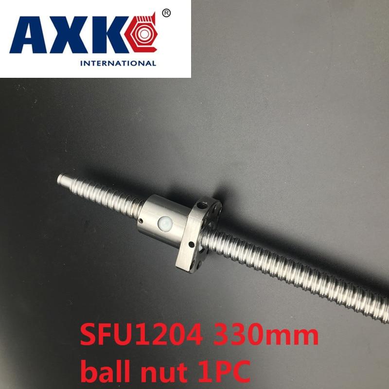 Axk Cnc Parts Sfu1204 330mm Ballscrew Set 1pc Rm1204 L-330mm + 1pc Sfu1204 Ball Screw Anti Backlash Ballnut With End Machining<br>