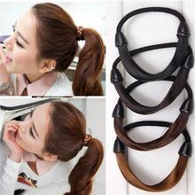 2 pcs Modern Women Korean Style Hair piece accessories Rope Hair Band Accessories Synthetic Wig Elastic Headwear