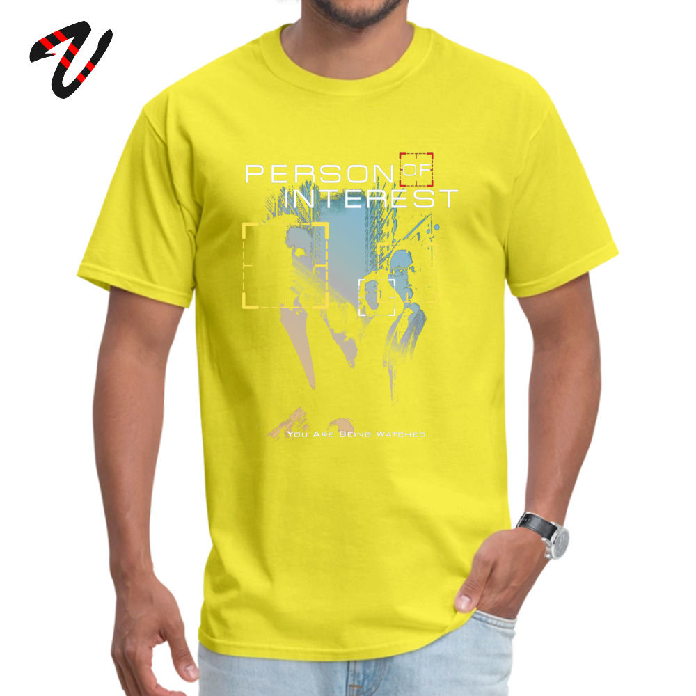 You Are Being Watched Summer Top T-shirts for Adult 100% Cotton Summer Fall Tops & Tees Sweatshirts Short Sleeve Funny O-Neck You Are Being Watched 21446 yellow