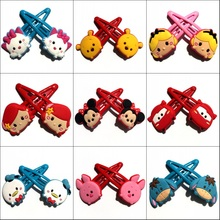 1Pair Hot Cartoon TSUM PVC Cute Hair Clips Hairpins Headwear Girl's Hair Accessories Headwear Kids Party Gift Hair Jewelry(China)