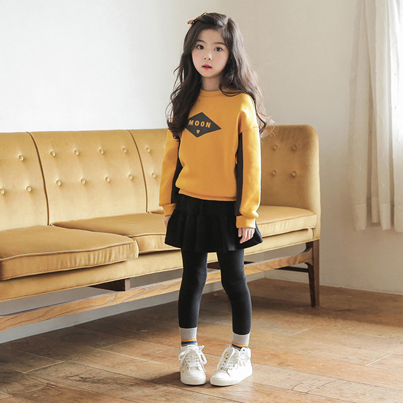 Travel snail children clothing sets 4-9 Yrs girs boutique outfits infantil baby girl clothes bouse+leggings winter sets2017 New<br>