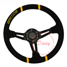 350mm Universal MOMO Suede Leather Drifting Car Steering Wheel