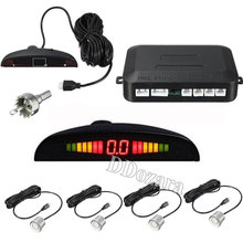 Car Auto Parktronic LED Parking Sensor With 4 Sensors Reverse Backup Car Parking Radar Monitor Detector System Backlight Display